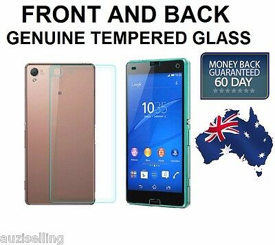 Front + Back Genuine Tempered GLASS Screen Protector For Sony Xperia Z3 COMPACT