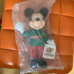 Disney-Micky-Maus-Plush-Mickey-1993-Disneyland-27-cm-Christmas-McDonalds-Mexico