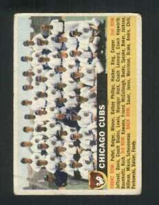 1956-Topps-11-Chicago-Cubs-VG-VGEX-Cubs-Grey-Backs-132161