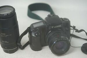 Camara-SLR-Canon-Eos-100-35mm-AF-de-pelicula-de-35mm-con-lentes-35-70mm-y-100-200mm