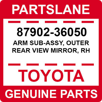 OUTER REAR VIEW 879316A040 Genuine Toyota MIRROR RH 87931-6A040