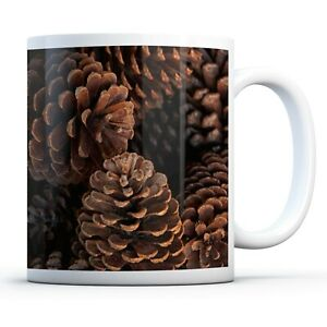 Pine Tree Cones Travel Mug Flask 330ml Coffee Tea Kids Car Gift #16467