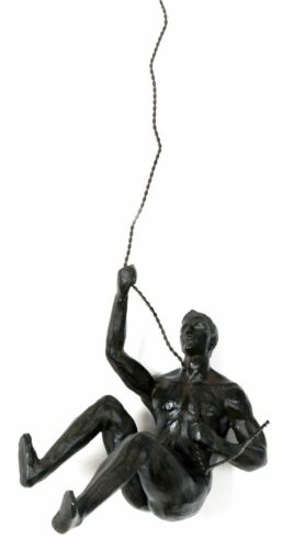 Hanging Climber Abseiling Man Ornament Sculpture Wall Art Figure ~ Design Vary