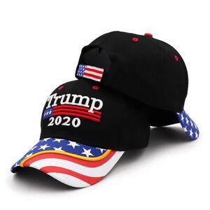 President Donald Trump 2020 USA Flag Baseball Cap Hat Make America Great DP
