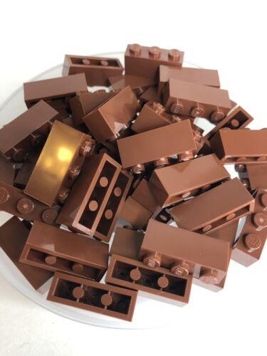 Lego 53 New Reddish Brown 1x3 Standard Building Bricks Bulk Lot Wall 3622 X