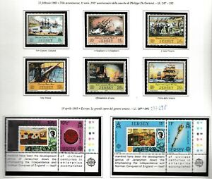 S35012 Jersey 1983 MNH Complete Year Set Year Complete 2 Scans