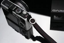 GARIZ Leather Wrist Finger Strap Black XS-WFSN2 M43 Sony NEX Fuji Lumis Olympus