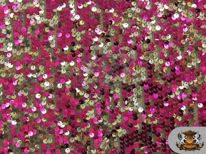 """Sequin 2 Tone Micro Pailletes Fabric FUSCHIA SILVER 54/"""" Wide Sold by the yar"""