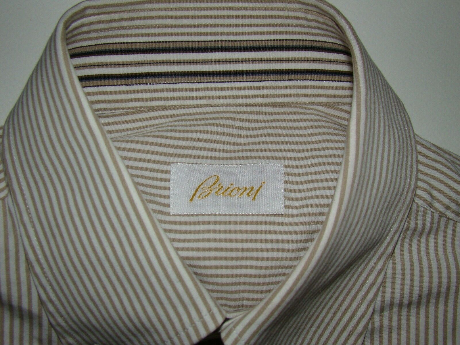 BRIONI Men's Shirt Cotton Luxury Made in  M 15 ¾ 40 Authentic TOP