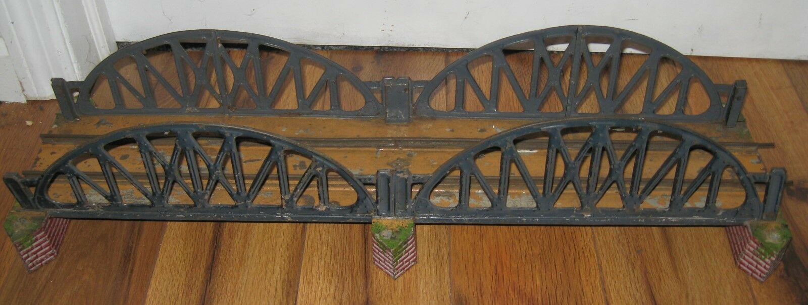 BING GBN LARGE DOUBLE SPAN 1 GAUGE BRIDGE TIN RARE PREWAR ANTIQUE Marklin Vtg