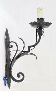 Original Applique In Ferro Luce Da Muro Ad Una Fiamma Vintage Primo Novecento Vs3 Lamps
