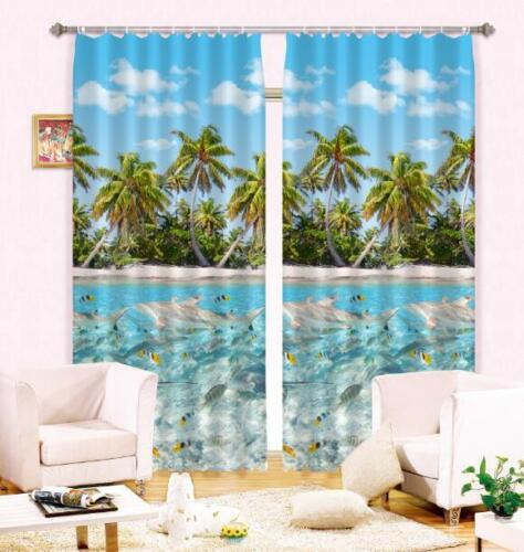 3D Coconut 352 Blockout Photo Curtain Printing Curtains Drapes Fabric Window AU