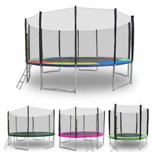Trampolin-2-50m-4-90m-Gartentrampolin-mit-Randabdeckung-verschiedenen-Farben
