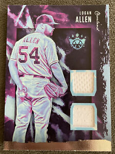 2020 Diamond Kings Logan Allen dual materials RC. DKM-LA. Cleveland Indians