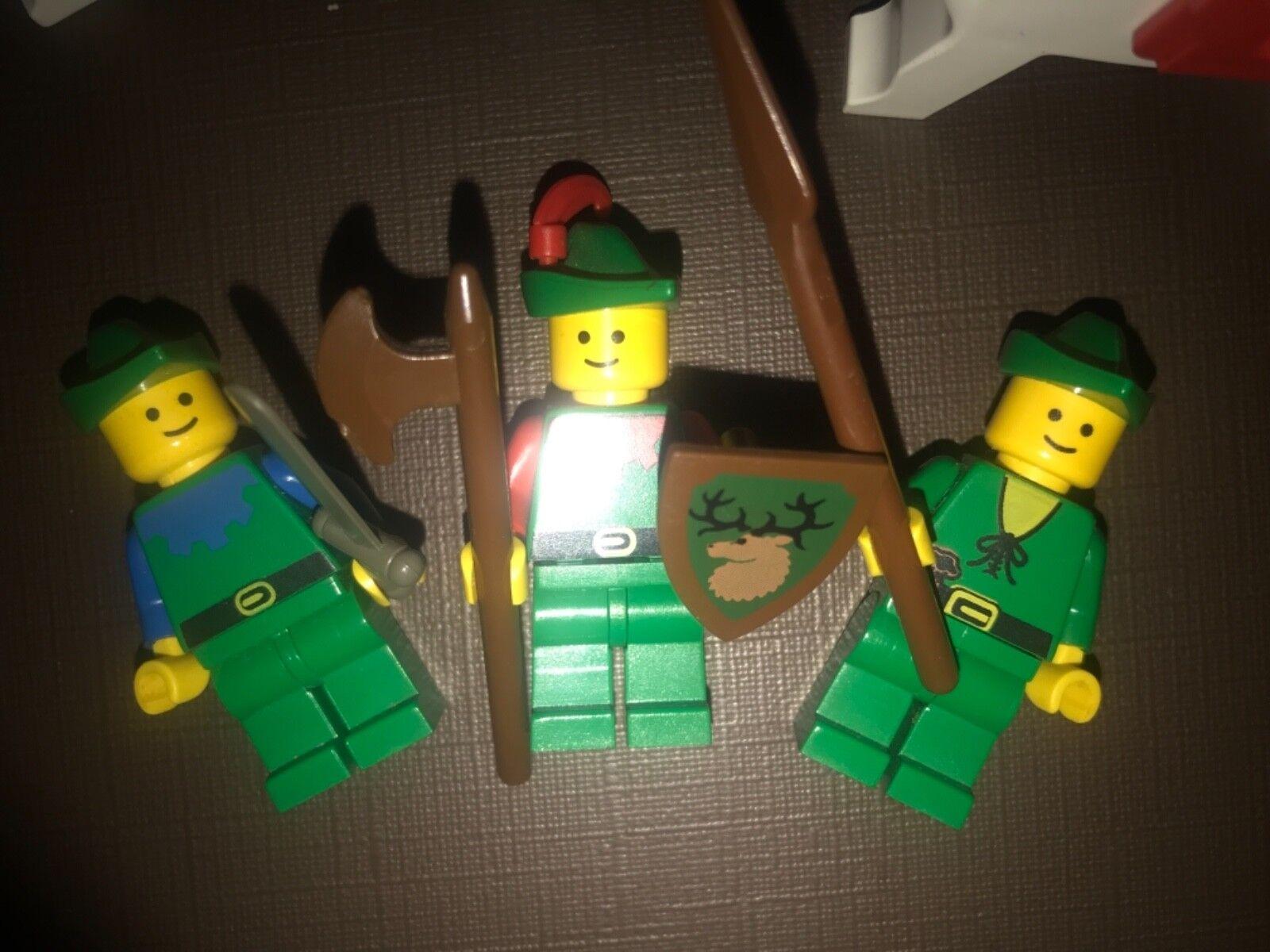 Lego forest men mini figures