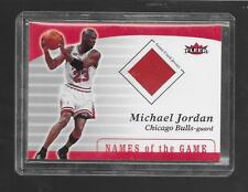 2007-08 Fleer - MICHAEL JORDAN - Game Used Jersey - BULLS  MJ 2
