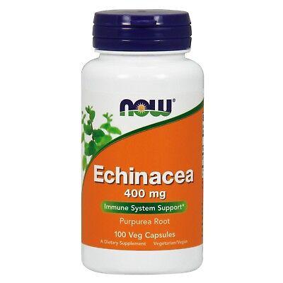 NOW® Echinacea, 400 mg, 100 Veg Capsules