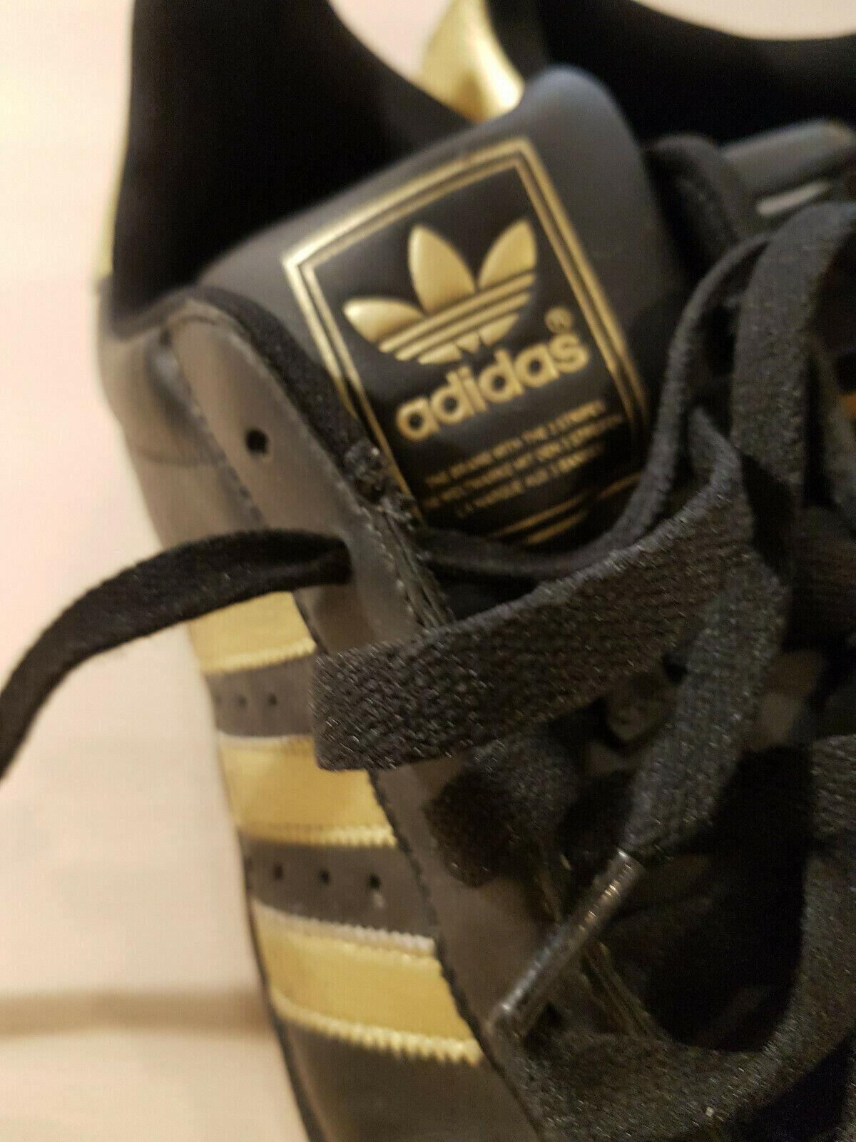 Adidas superstar UK 10,5 schwarz Gold Mega RAR