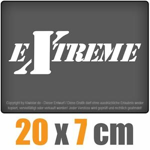 Extreme-de-20-x-7-cm-JDM-decal-sticker-coche-car-blanco-discos-pegatinas