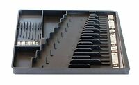 Wrench Organizer Tool Sorter Holder Rack Rail Toolbox Craftsman Snapon Black Usa