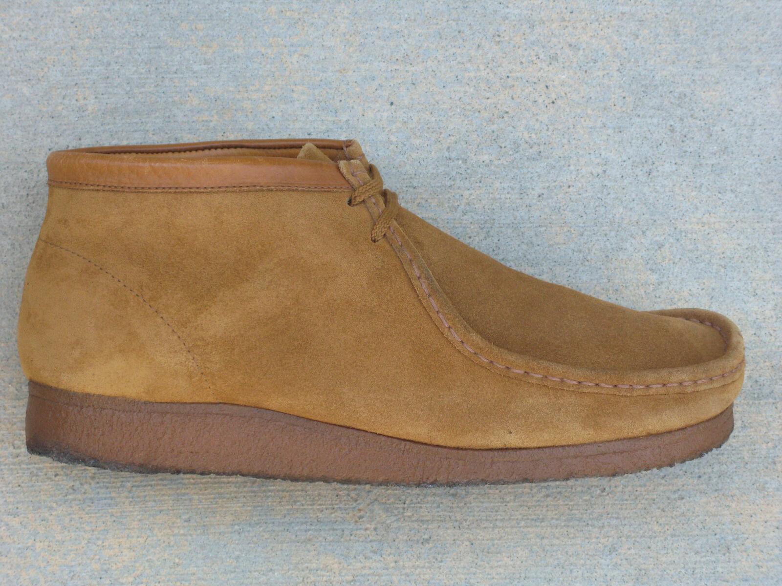 Clarks Original Wallabee Chukka Mid Boots Men Sz 13 M Tan Suede Leather