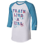 NWT-adidas-Girls-039-Train-Like-a-Girl-Destiny-Sleeve-Shirt-Teal-Blue-raglan thumbnail 1