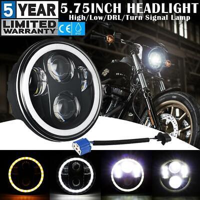 """7/"""" 60W Hi//Lo LED Hauptscheinwerfer Scheinwerfer mit Halo Angel Eyes für Harley"""
