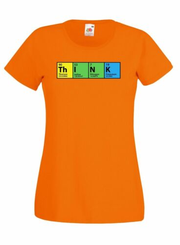 THE BIG BANG THEORY 'THINK' PERIODIC TABLE GRAPHIC SKINNY HIGH QUALITY T SHIRT