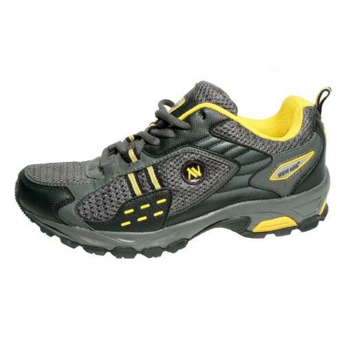 Messieurs Trekking Chaussures Outdoor des Rangers Sneaker Chaussures De Sport Gris Foncé//Jaune