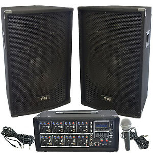Y Dj Pa Speaker System 8 Channel 200w Usb Sd Powered Mixer