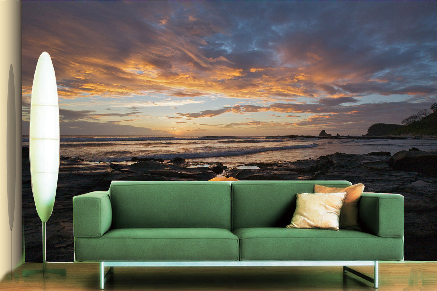 3D Beach Twilight Sky 5 Wall Paper Wall Print Decal Wall Deco Indoor Mural Lemon