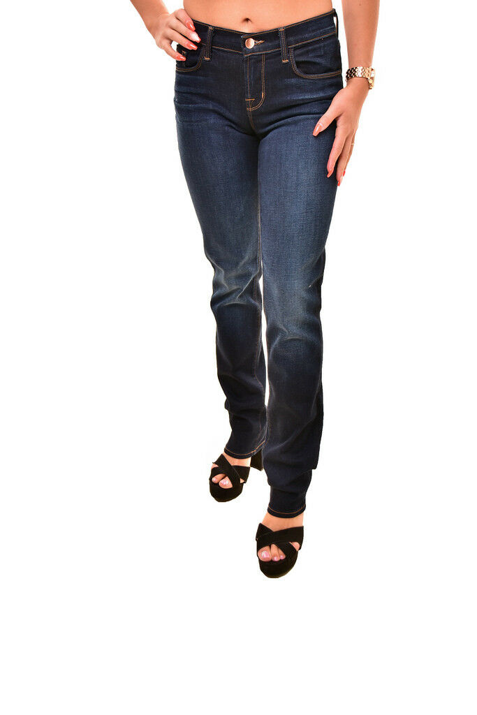 J BRAND Damen Mid Rise Straight Sleepless Jeans Blau Größe 25    190 BCF88