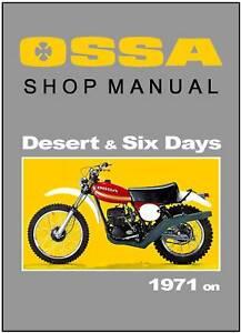 Peachy Ossa Workshop Manual Desert Isdt Six Days 1973 1974 1975 1976 1977 Wiring 101 Kniepimsautoservicenl