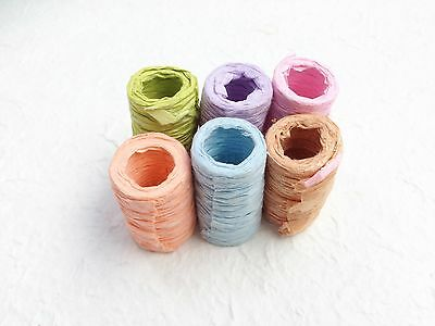 6 ROLLS of SAA MULBERRY PAPER RIBBONS - Pastel Colors for Gift wrapping, Craft