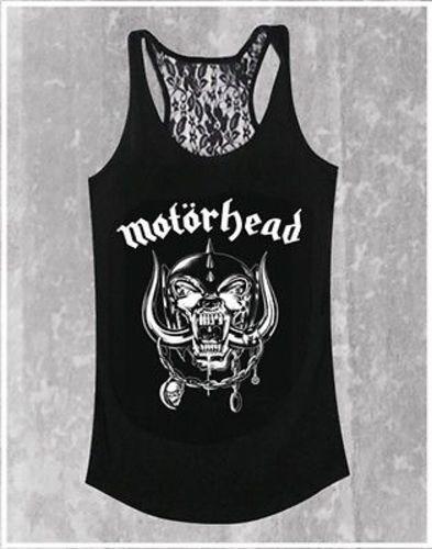 Motorhead Warpig /& Logo Metall Classischer Rock Crew Musik Spitze Rücken T-Shirt