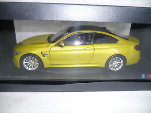 BMW-m4-f82-Coupe-Austin-Yellow-Metallic-1-18-PARAGON-DEALER-VERY-RARE