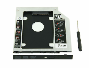 9-5mm-Universal-SATA-2nd-HDD-SSD-Hard-Drive-Caddy-for-CD-DVD-ROM-Optical-Bay-New