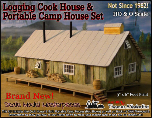 Scale Model Masterpieces//Yorke Logging Camp Cook House Kit HO