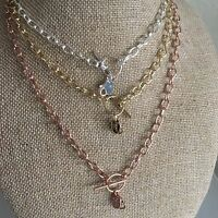"""Authentic Origami Owl Toggle Chains Black~Gold~Rose Gold~Silver 16"""" & 20""""  New"""