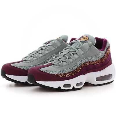 Nike Air Max 95 PRM Sneakers Shoes Bordeaux Grey Yellow 807443 601 Women's 7.5 | eBay