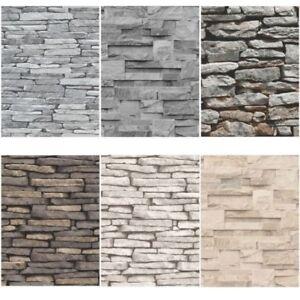 Ardesia muro di pietra effetto carte da parati moderno - Carte da parete moderne ...