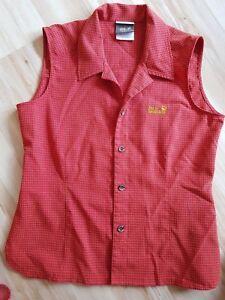Details zu JACK WOLFSKIN Bluse Top rot orange S (Partnerlook auch in GR 104) neuwertig !