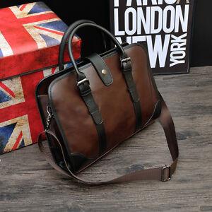 Men 039 S Vintage Brown Leather Handbag Messenger