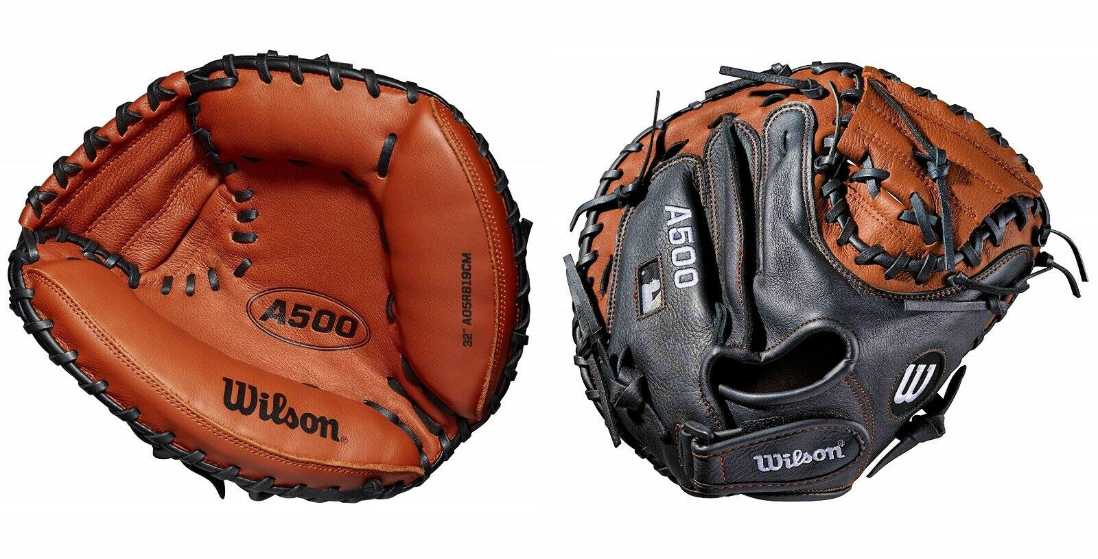 Wilson 2019 A500 Béisbol Guante de catcher  Junior De Cuero 32 , 10-13 años de edad, lanzador de mano derecha  ventas en linea