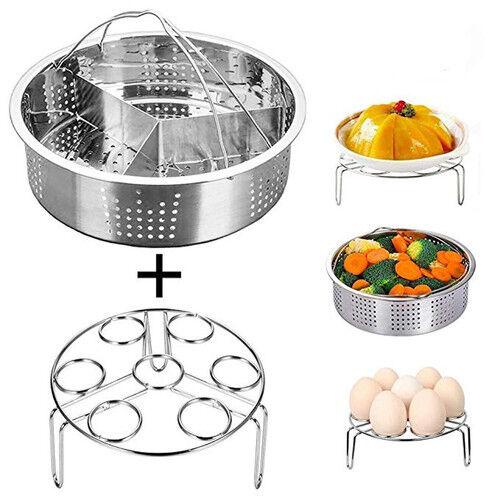Stainless Steel Steamer Basket Rack Trivet Instant Pot Pressure Cooker Accessori