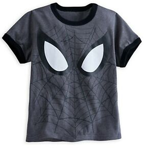4cc9a7322 Disney Store Spiderman Super Hero Ringer Boys T Shirt Graphic Tee ...