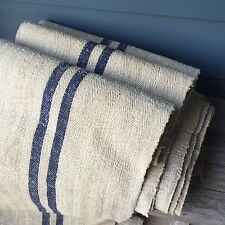 1 Yard THICK Antique Grain grainsack fabric linen hemp stripe heavy 21 Available