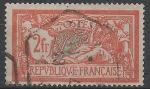 FRANCE-STAMP-TIMBRE-N-145-c-034-MERSON-2F-CASSURE-ECUSSON-034-OBLITERE-SIGNE-M472