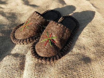 Filz Hausschuhe Handarbeit aus Kirgisien Filzpantoffeln Filzpuschen Hüttenschuhe