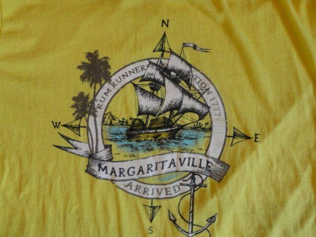 Yellow Margaritaville 1777 T Shirt XL Free US Shipping